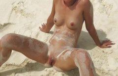 Filmer avec des femmes se baignant nues